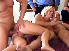 Horny Housewife Threesome Sex