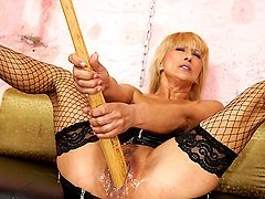 Kinky blonde mama getting fisted by a hot babe