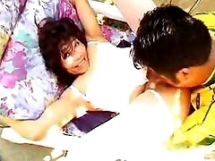 Naughty Asian milf adores wet oral