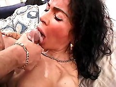 Lewd mature fucks and gets facial