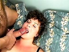 Yummy plump mom gets messy cum jet