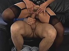 Brunette aged mature does hot blowjob and fucks