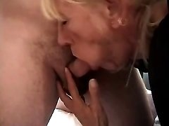 Aged maid seduces two men