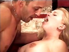 Blonde milf has hard sex on floor