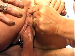 Constrained guy serves three depraved horny matures