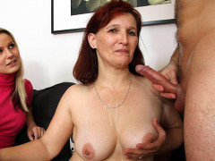 Old pussy fucked by hard cock