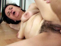 Hairy pussy granny filled