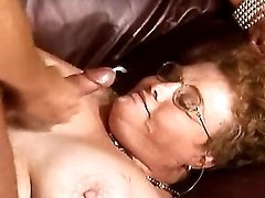 Chubby granny get cum after fisting